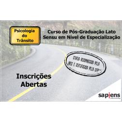 Taxa de Inscrição: Especialização em Psicologia do Trânsito
