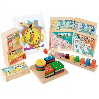 Maleta matematica - 10 jogos - maleta mdf