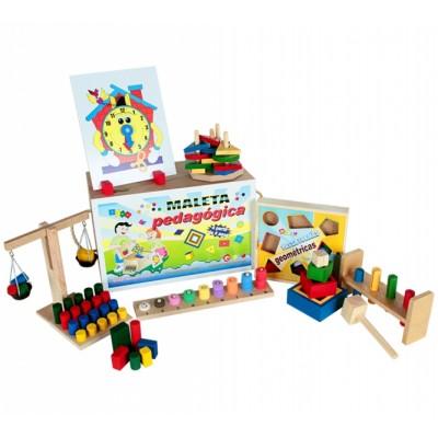 Maleta pedagogica - 10 jogos - maleta mdf