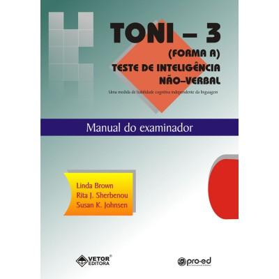 TONI-3 (Forma A) - Teste de Inteligência Não Verbal - Kit