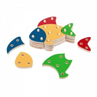 Troque e encaixe as cores - peixe