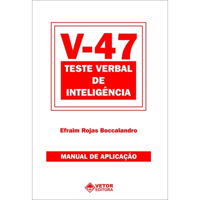 V47 - Teste Verbal de Inteligência - Kit